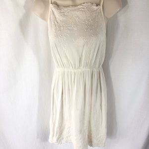 Hanger 221 Juniors Dress Large Embroidered Ivory
